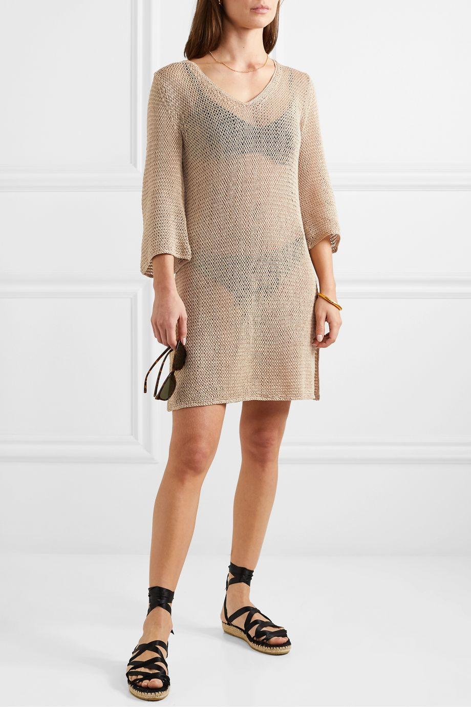 Skin Lenora Minikleid aus gehäkelter Baumwolle