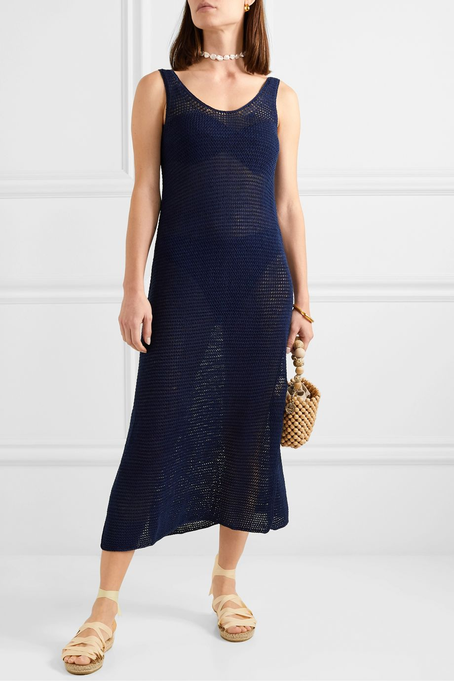 Skin Louisa crocheted cotton maxi dress