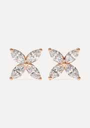 Tiffany & Co. Victoria 18-karat rose gold diamond earrings