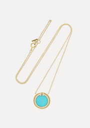 Tiffany & Co. T Two 18-karat gold, turquoise and diamond necklace
