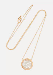 Tiffany & Co. T Two 18-karat rose gold, mother-of-pearl and diamond necklace