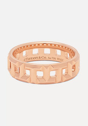 Tiffany & Co. T True 18-karat rose gold ring