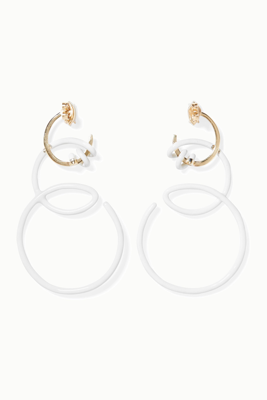 Bea Bongiasca You're So Vine 9-karat gold, enamel and rock crystal earrings
