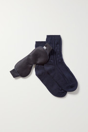 Cashmere socks and eye mask set