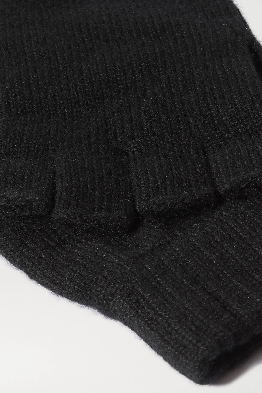 Johnstons of Elgin + NET SUSTAIN Fingerlose Handschuhe aus Kaschmir