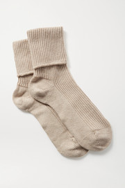 Johnstons of Elgin Ribbed cashmere socks