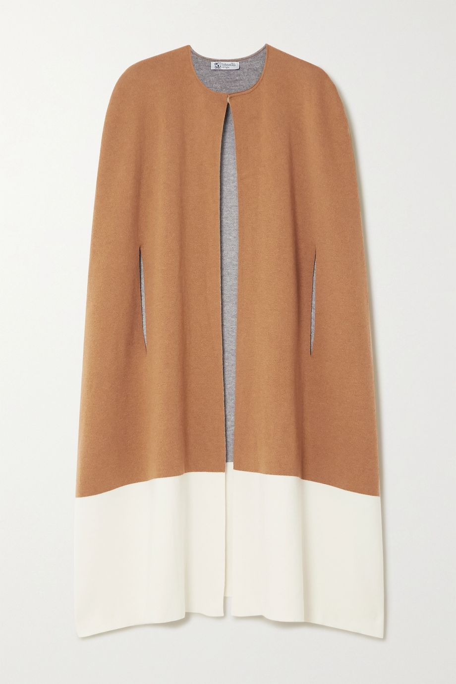 Johnstons of Elgin Two-tone stretch-cashmere cape