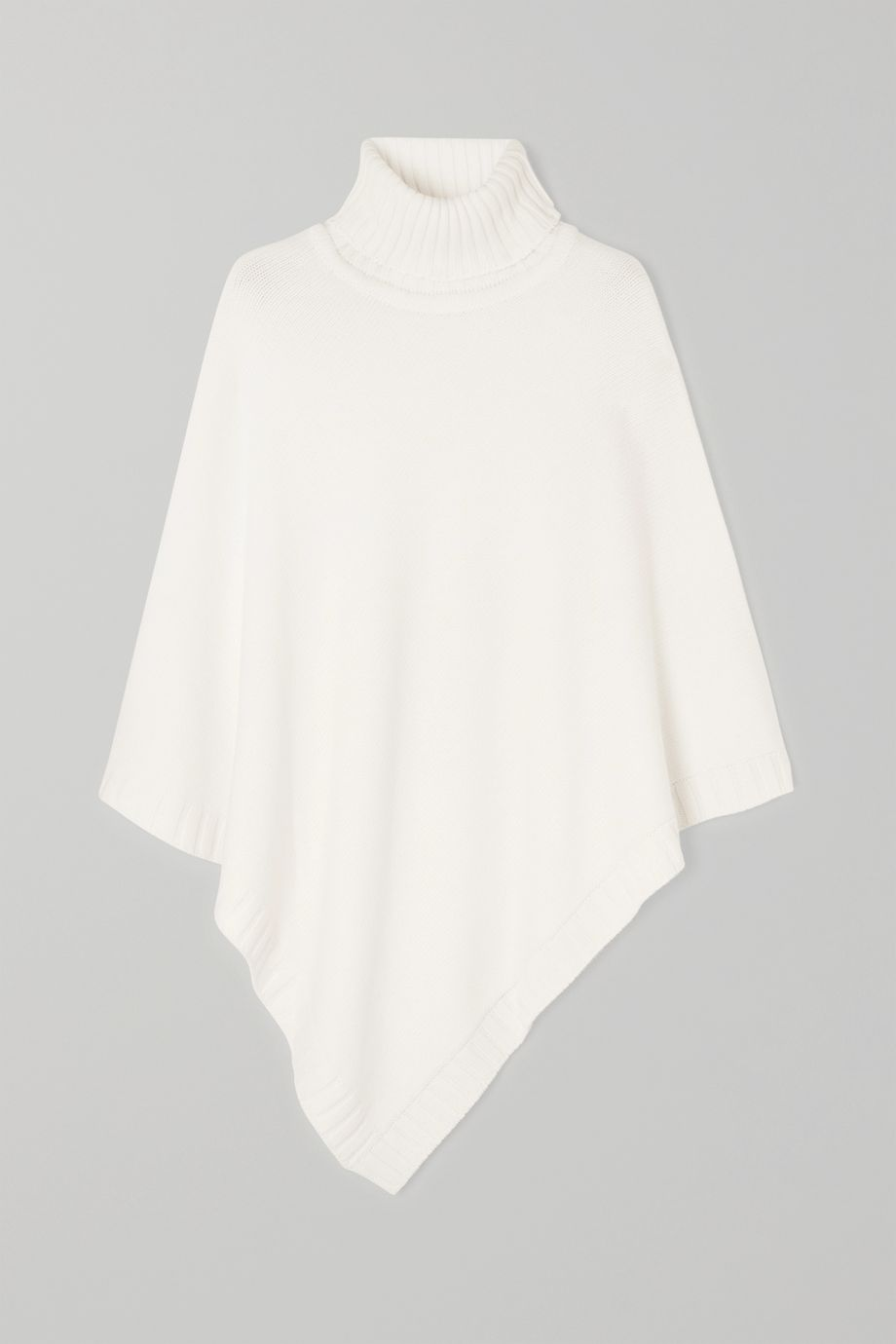 Johnstons of Elgin Cashmere turtleneck poncho