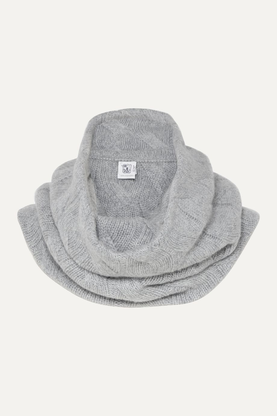 Johnstons of Elgin Cable-knit cashmere snood