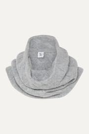 Cable-knit cashmere snood