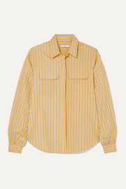 MATIN Striped cotton-poplin shirt