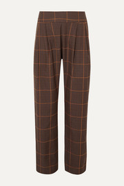 MATIN Prince of Wales checked cotton wide-leg pants