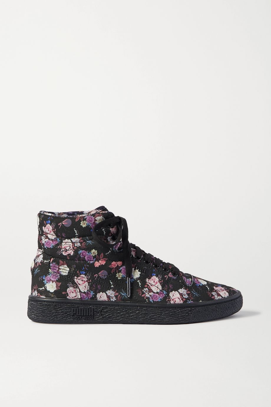 Tabitha Simmons + PUMA Ralph Sampson floral-print canvas high-top sneakers