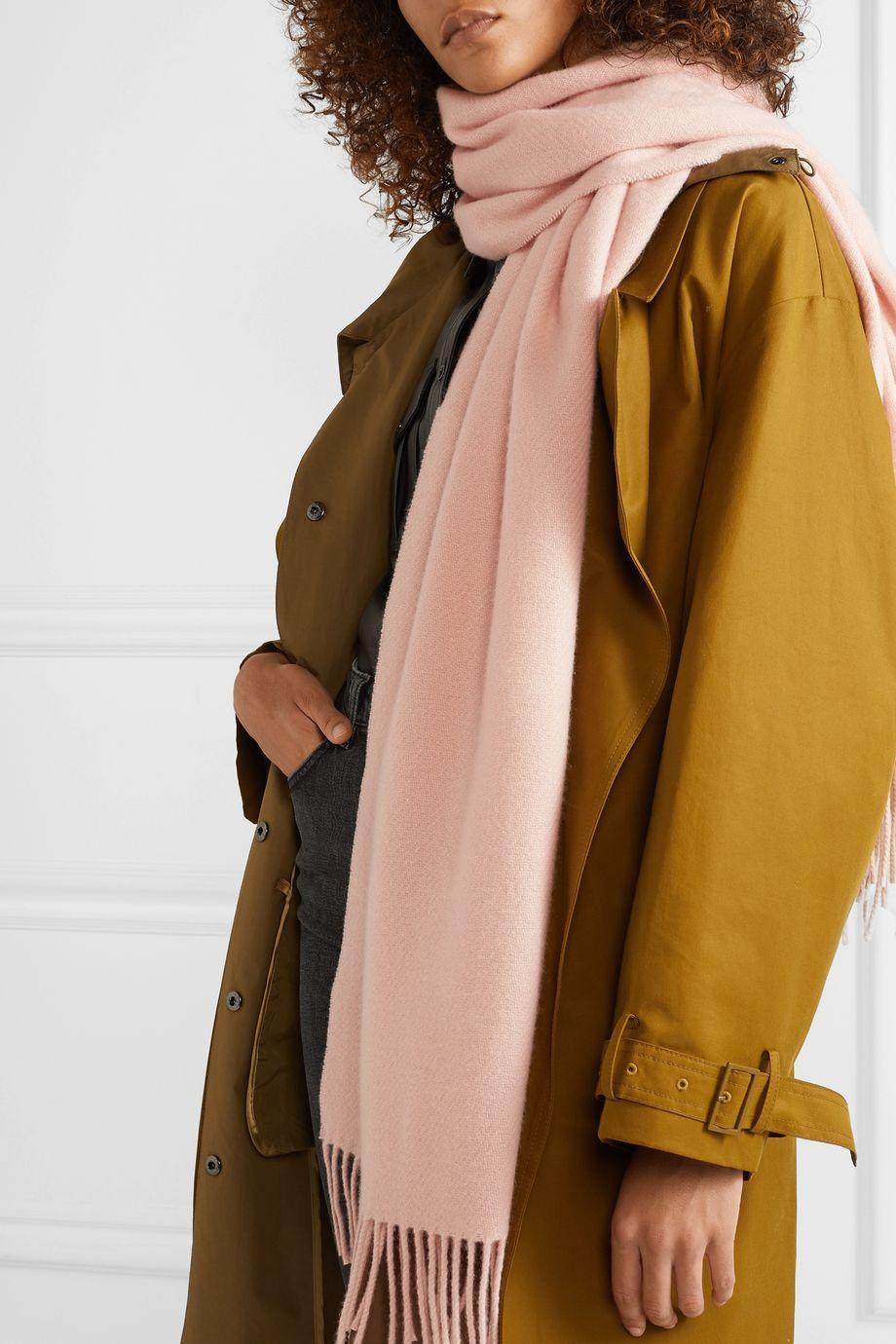 rag & bone Fringed cashmere scarf