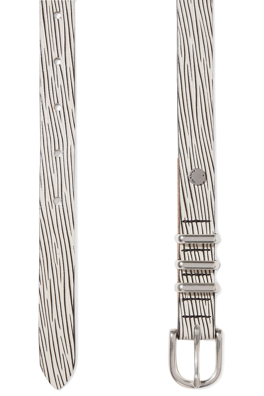 rag & bone Jet embossed leather belt