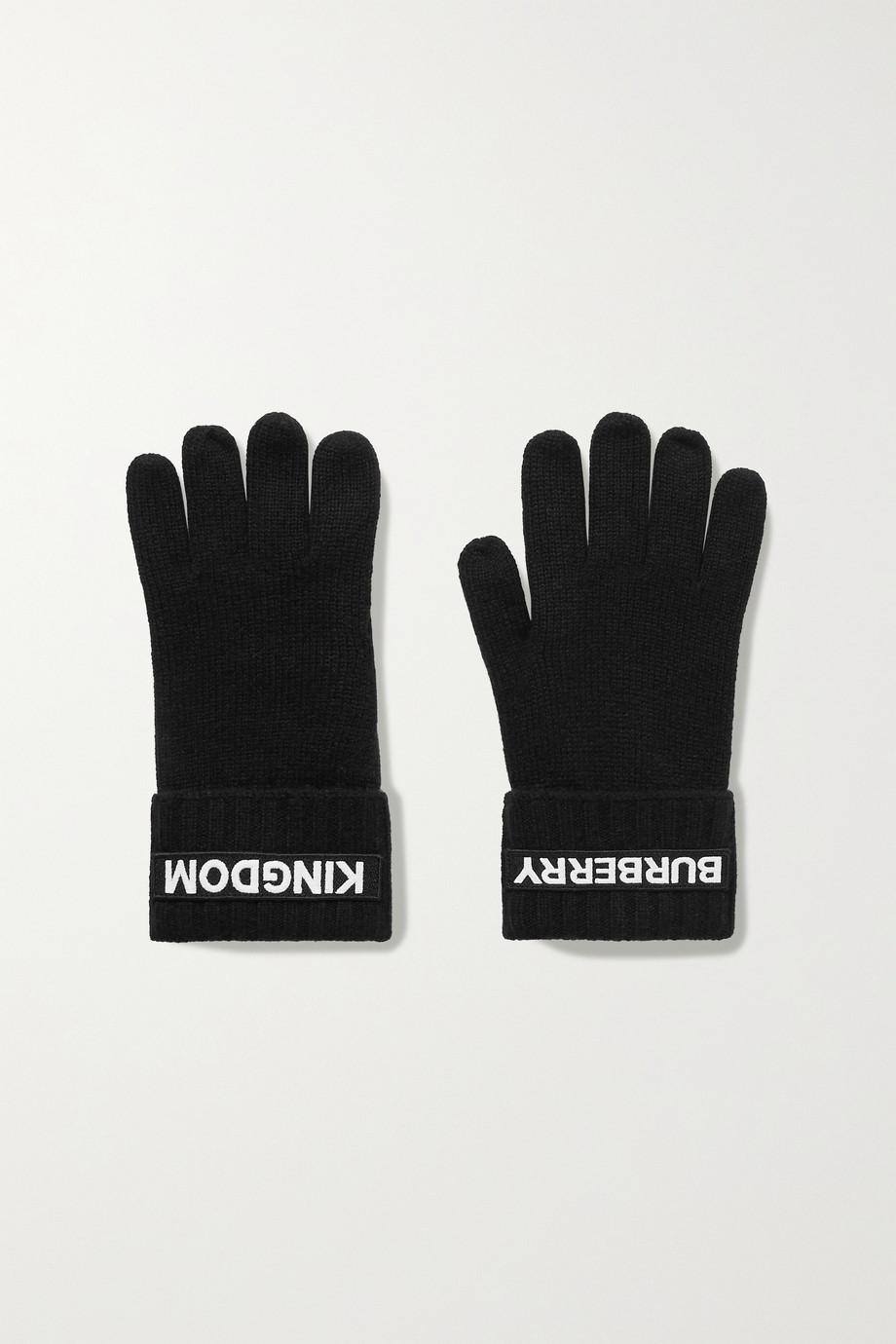 Burberry Appliquéd cashmere gloves