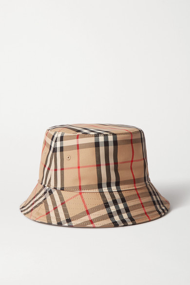 Checked Cotton Twill Bucket Hat by Burberry