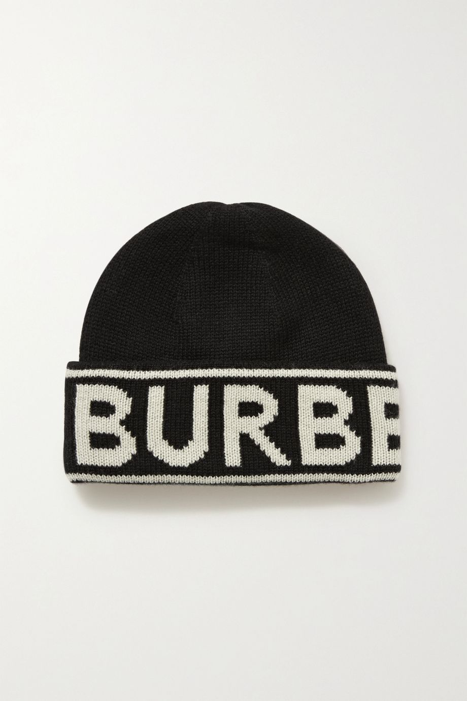 Burberry 嵌花羊绒毛线帽