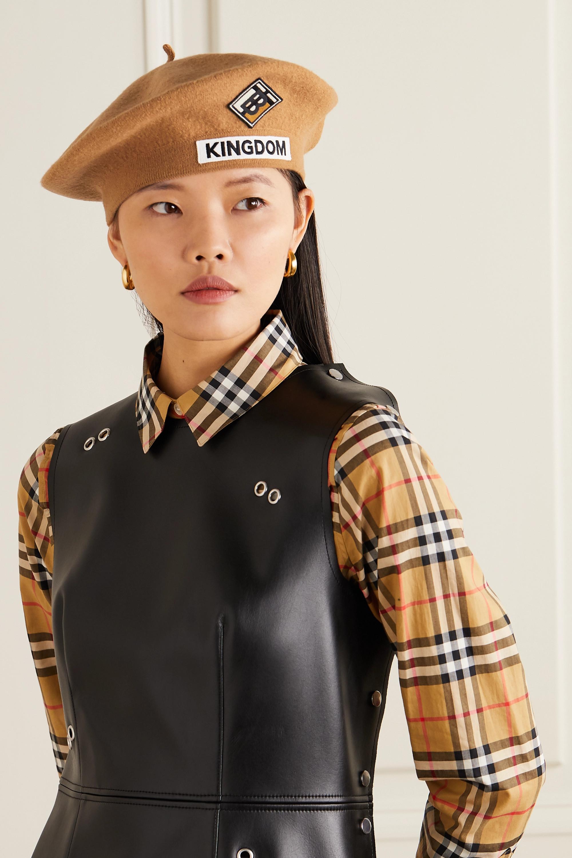 Burberry Appliquéd merino wool-felt beret