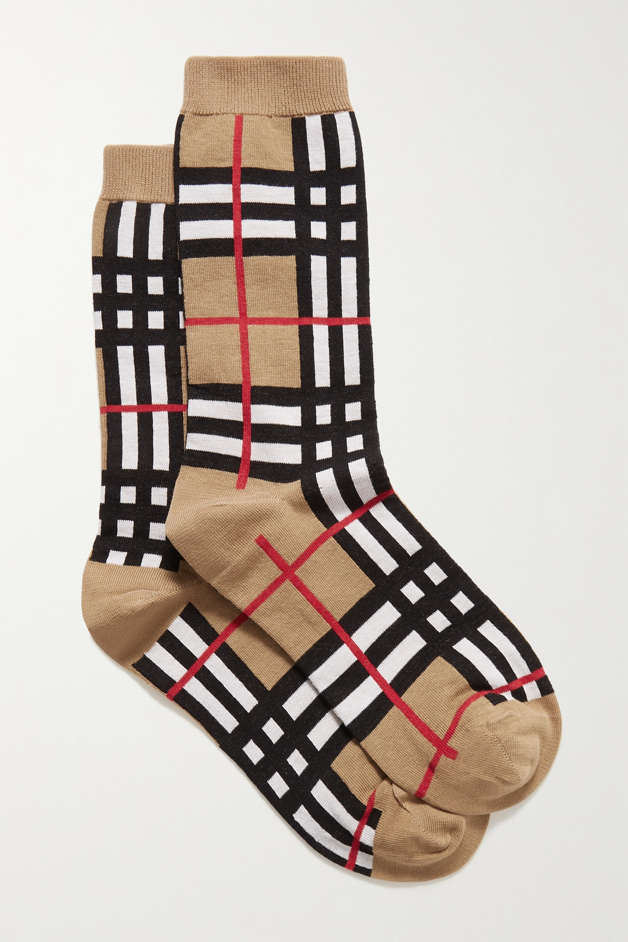 Burberry Checked cotton-blend socks