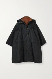 Burberry Oversized hooded shell poncho