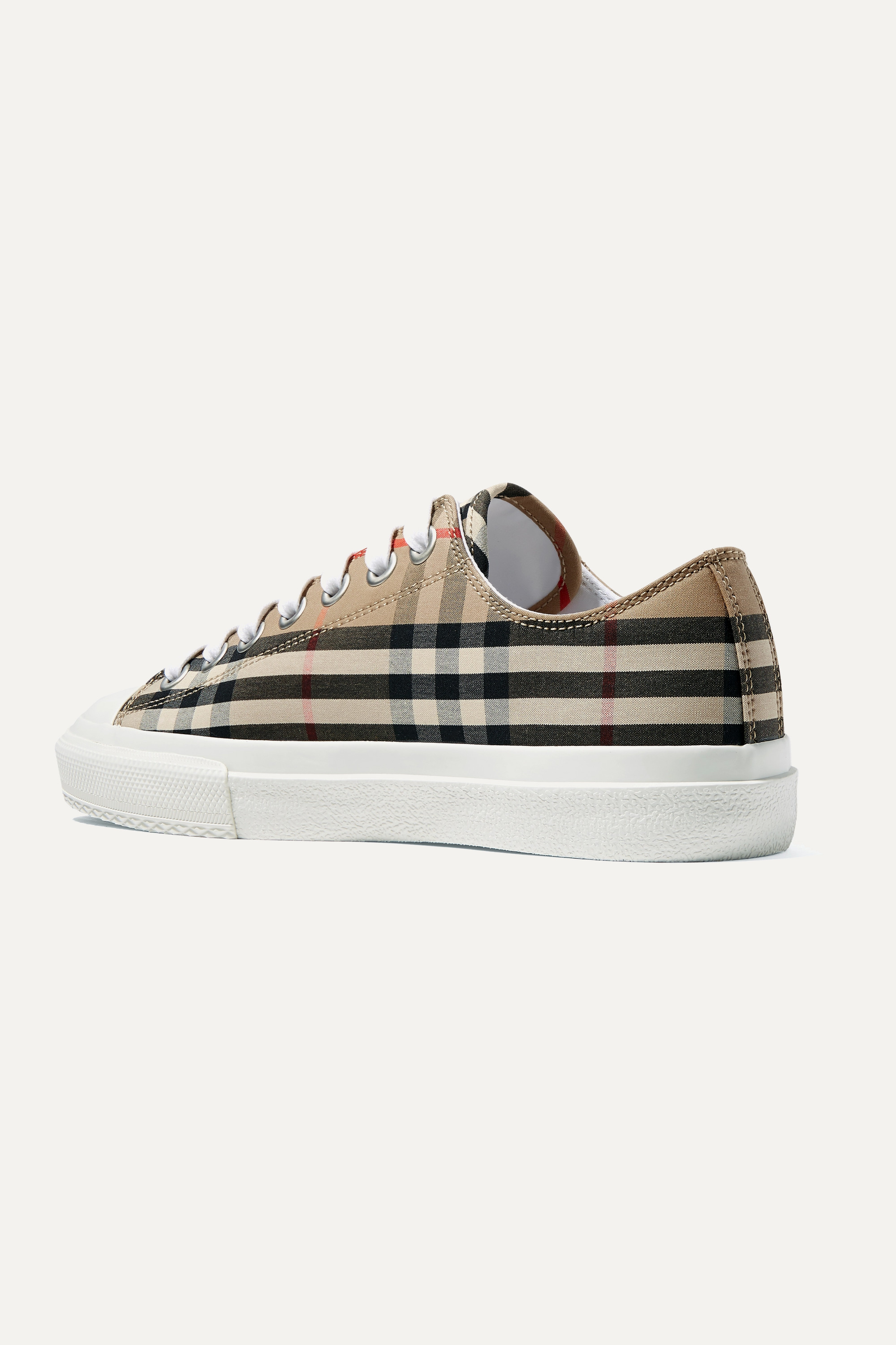 Burberry Logo-print checked cotton-canvas sneakers