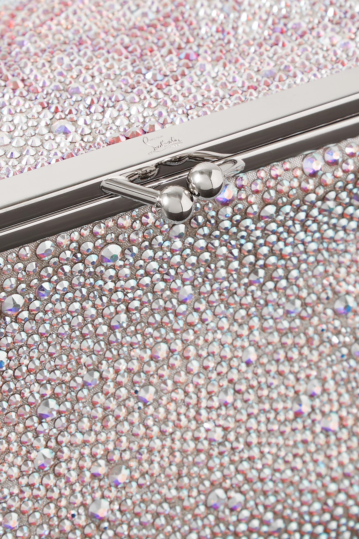 Christian Louboutin Daisy crystal-embellished metallic leather shoulder bag