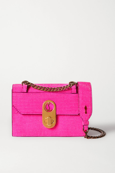 Pink Elisa mini leather shoulder bag   Christian Louboutin NdnXNw