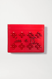 Christian Louboutin Kios spiked textured-leather cardholder