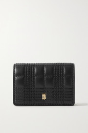Quilted leather cardholder