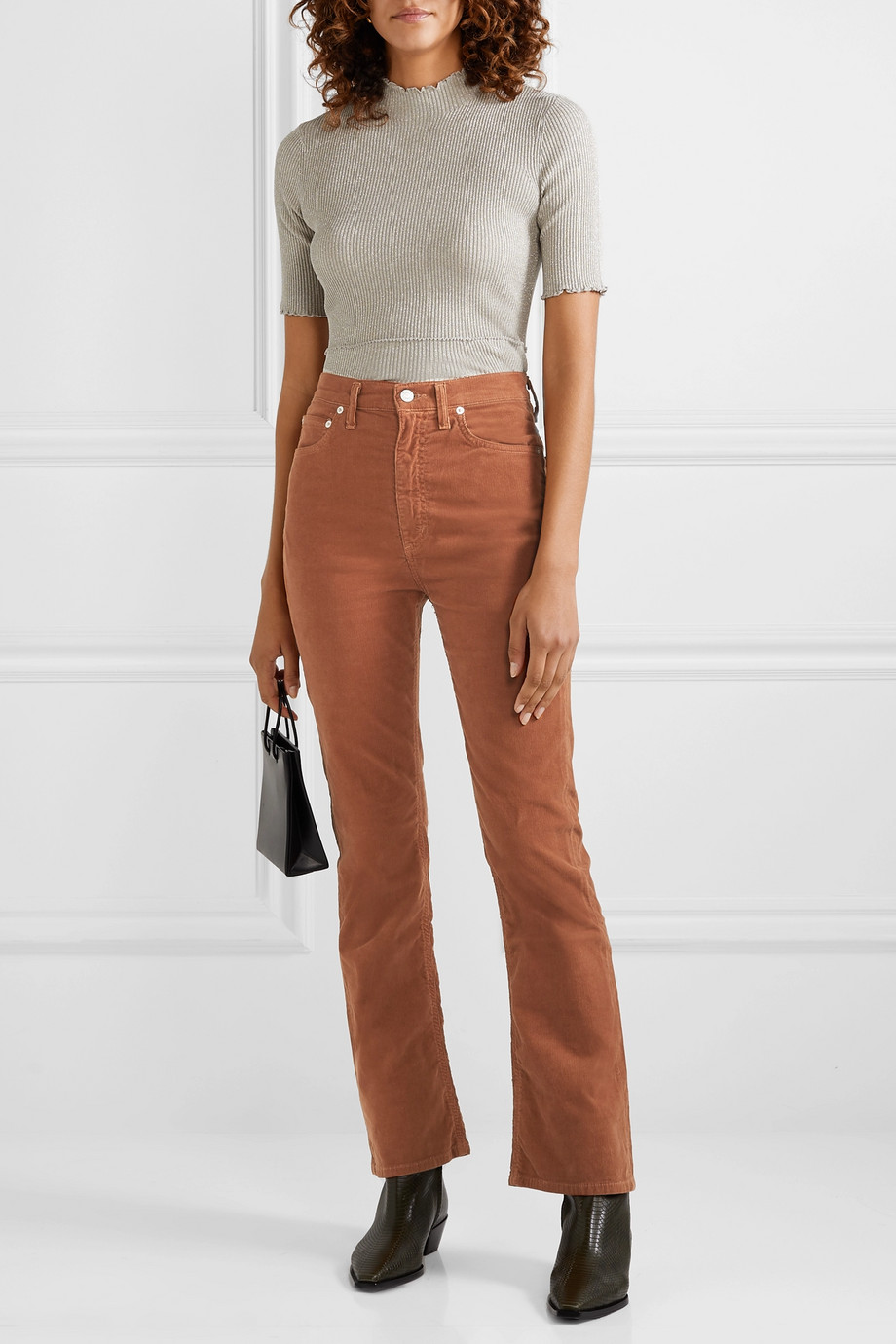 AGOLDE Vintage cotton-blend corduroy flared pants