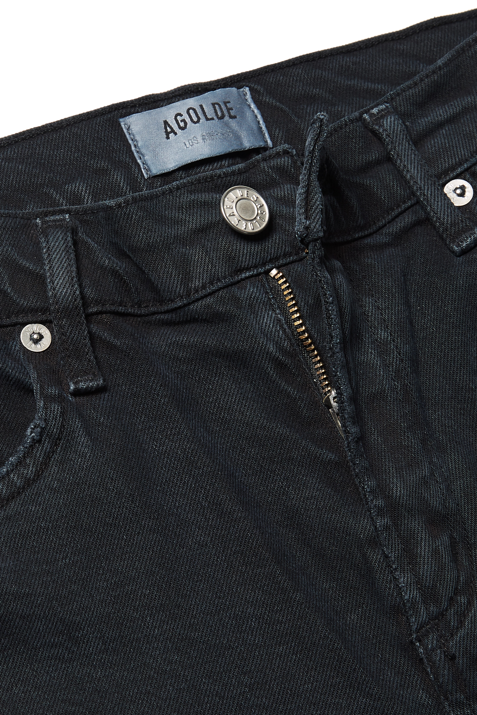AGOLDE Toni distressed mid-rise straight-leg jeans