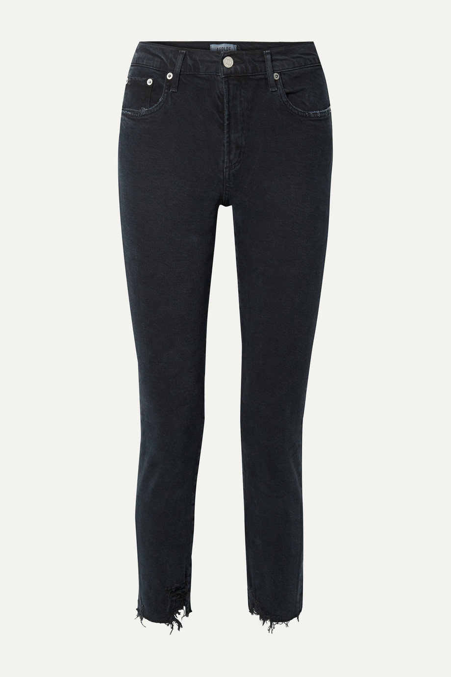 AGOLDE Toni distressed mid-rise straight-leg jeans
