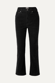 Pinch Waist cotton-blend corduroy flared pants
