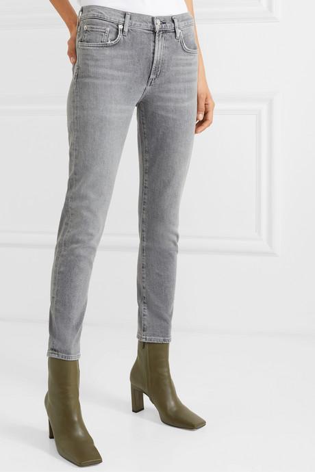 Toni mid-rise straight-leg jeans