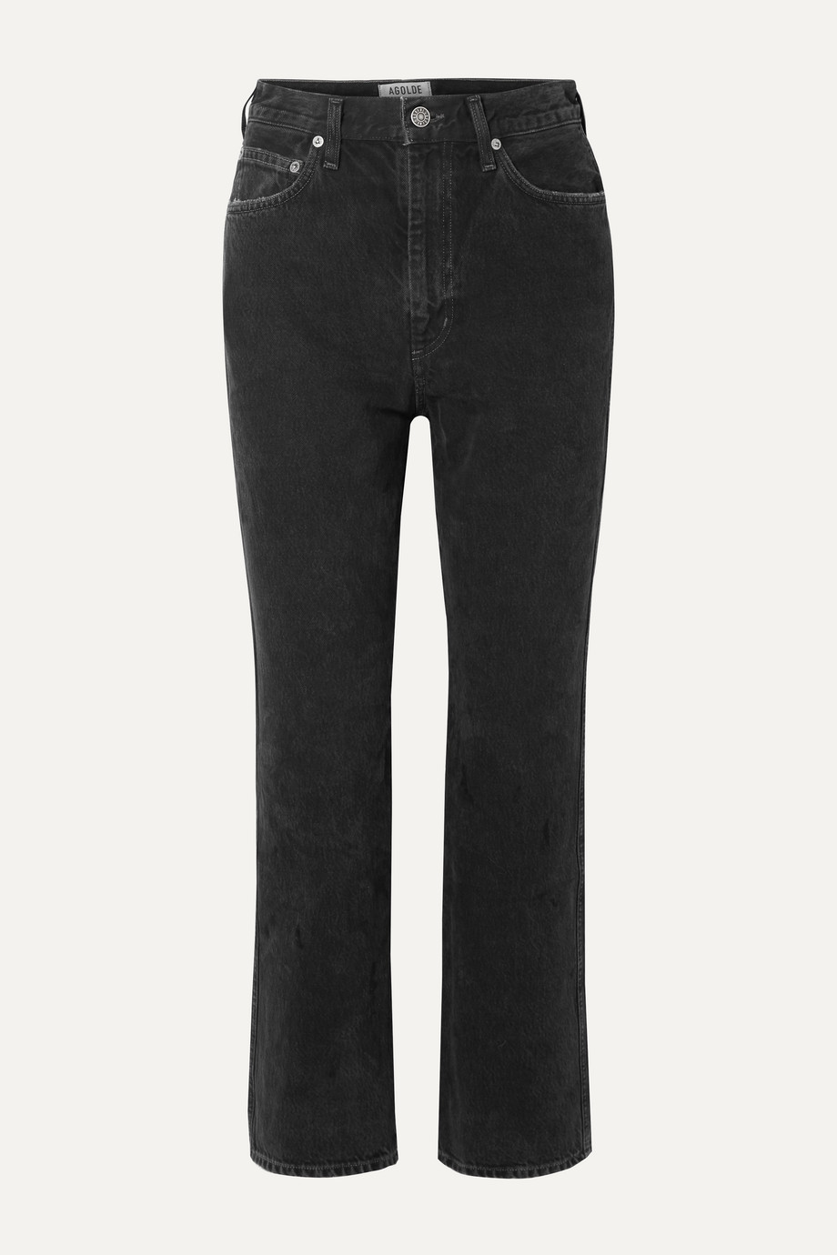 AGOLDE Pinch Waist cropped high-rise flared jeans