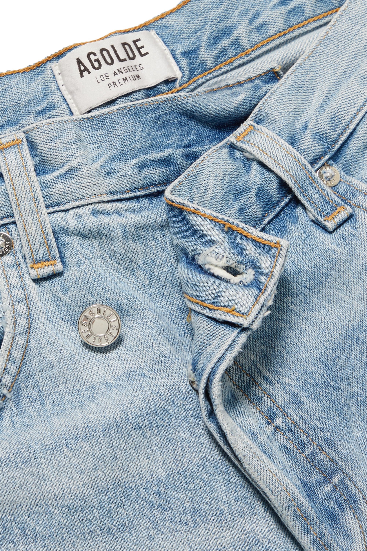 AGOLDE Criss Cross Upsized distressed high-rise wide-leg jeans