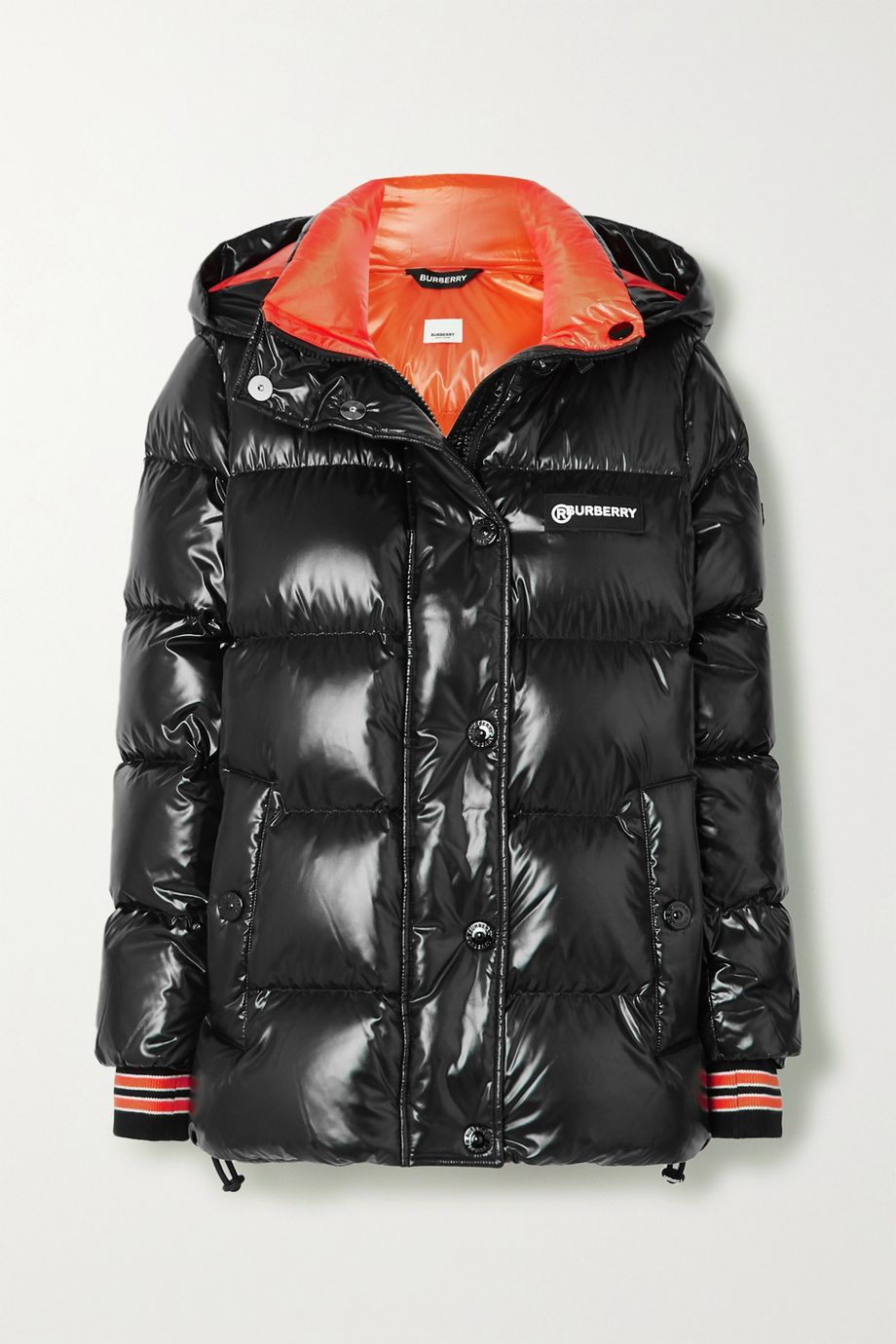 Burberry Hooded quilted glossed-shell down jacket