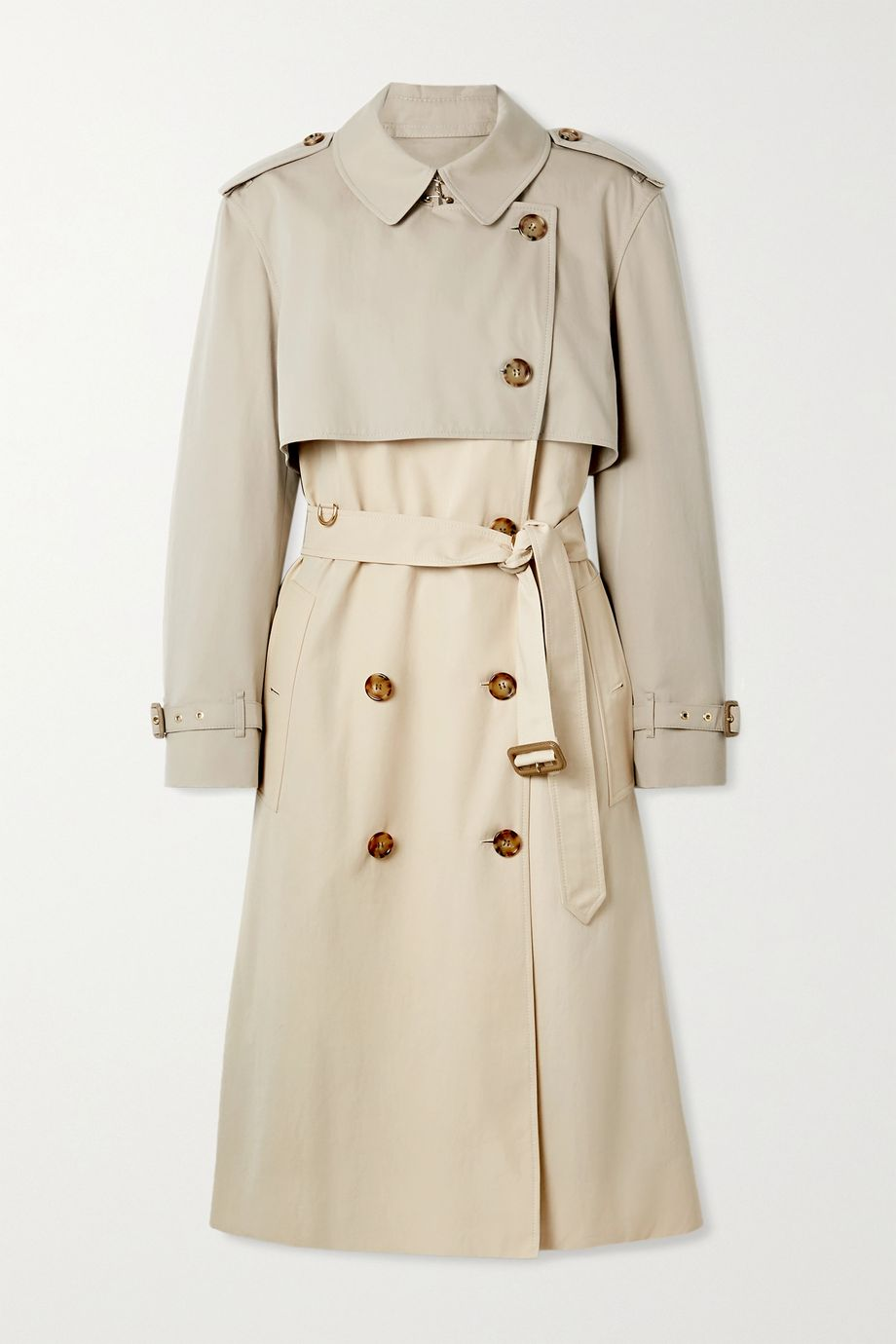 Burberry Deighton layered two-tone cotton-gabardine trench coat