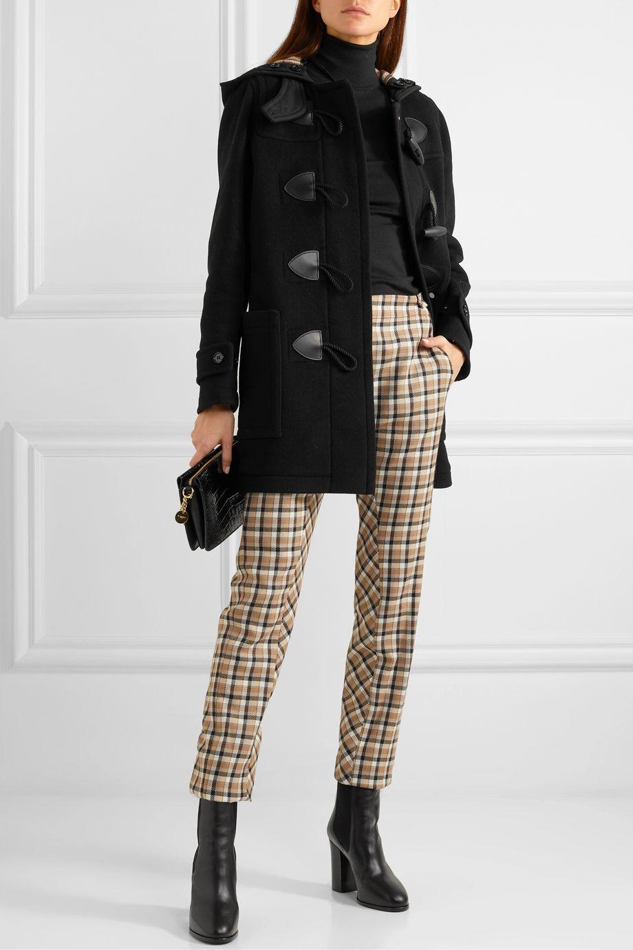 Burberry Hooded wool-blend felt coat