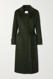 Belted cashmere coat