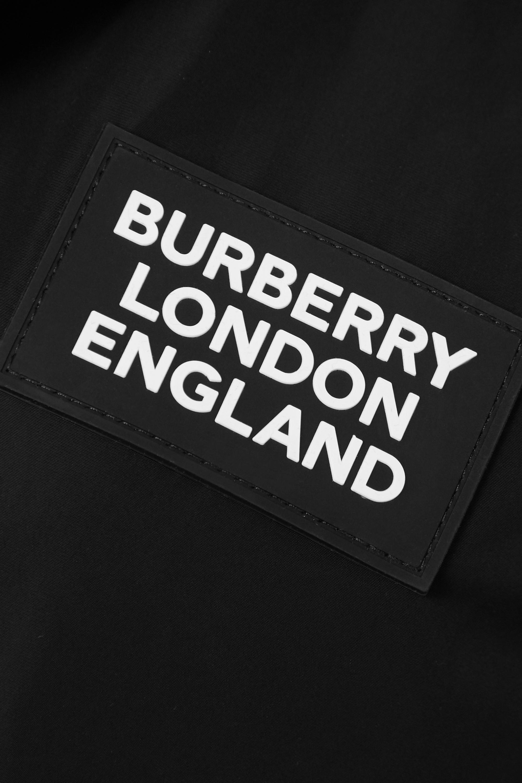 Burberry Hooded appliquéd shell raincoat