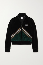 Burberry Striped two-tone velour jacket