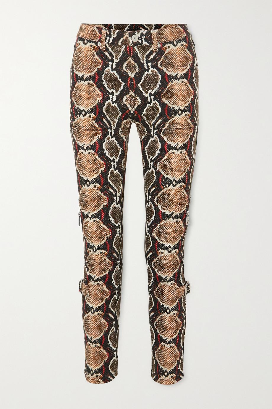 Burberry Hoch sitzende Jeans mit schmalem Bein und Schlangenprint
