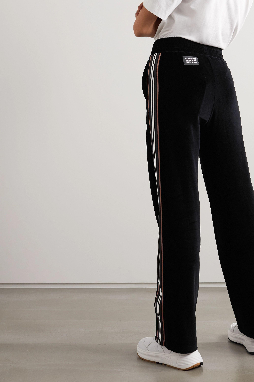 Burberry Striped cotton-velour track pants