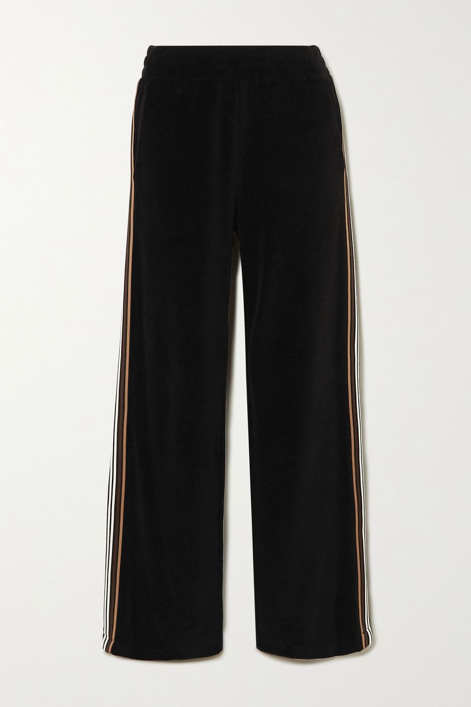 Burberry Striped cotton-velour track pants
