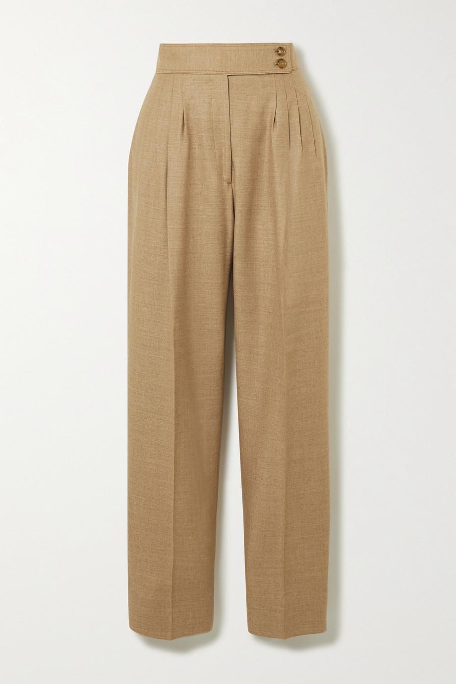 Burberry Hose mit geradem Bein aus Twill aus einer Wollmischung