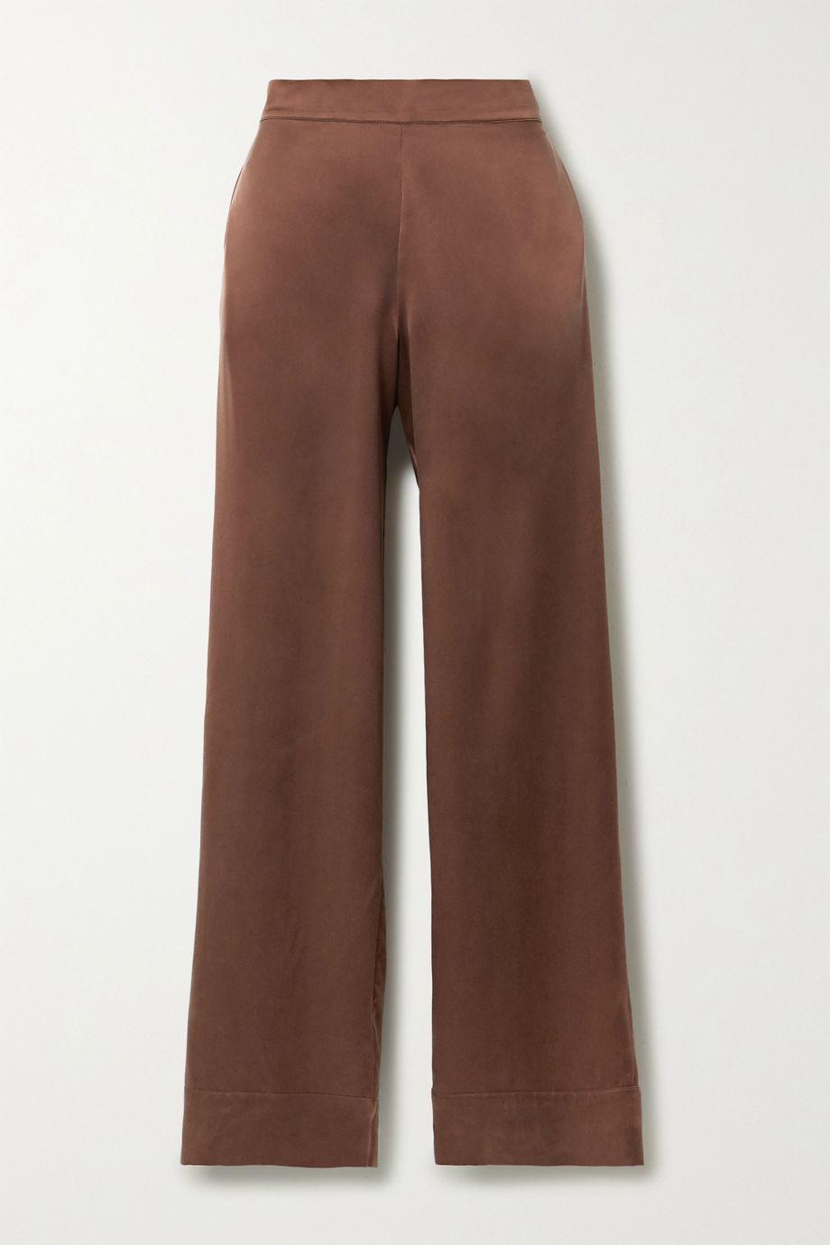 ASCENO + NET SUSTAIN London washed-silk pajama pants