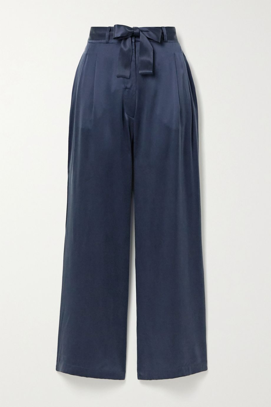 ASCENO + NET SUSTAIN Rivello washed-silk pajama pants