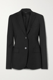 Classic stretch-wool blazer